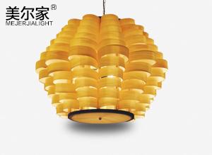 MEJ-6616木皮吊灯