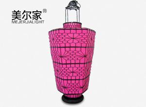 MEJ-8179粉色铁艺灯笼
